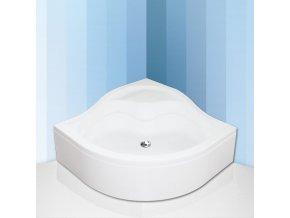 SEMIDEEP NEO 80x80 cm- Čtvrtkruhová samonosná polohluboká sprchová vanička