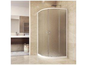 Sprchový set: sprchový kout, čtvrtkruh, 90x185 cm