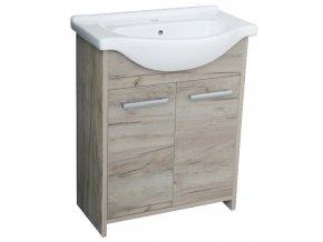 Alfa 65 - koupelnová skříňka s umyvadlem