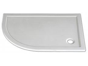 STONE 1280R P - sprchová vanička čtvrtkruhová pravá