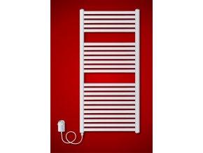 BKM.ER koupelnový elektrický radiátor 600 x 1815 mm, s regulátorem teploty (El. vývod Pravé provedení)