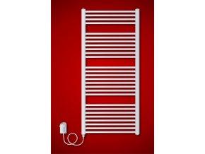 BKO.ER 600 x 1320 mm koupelnový radiátor  s regulátorem teploty, oblý (El. vývod Pravé provedení)