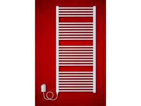 BKO.ER 600 x 730 mm koupelnový radiátor  s regulátorem teploty, oblý (El. vývod Pravé provedení) | czkoupelna.cz