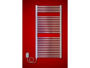 CS.ER 600 x 1210 mm koupelnový elektrický radiátor, chrom (El. vývod Pravé provedení)