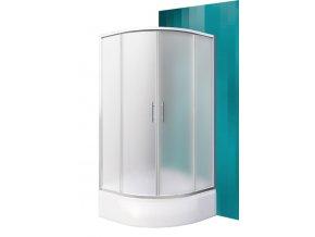 PORTLAND NEO/800 Čtvrtkruhový sprchový kout s dvoudílnými posuvnými dveřmi
