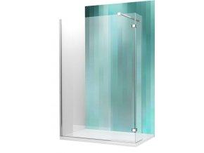 WALK IN C , 90 cm, velkoprostorový sprchový kout  profil brillant, sklo transparent
