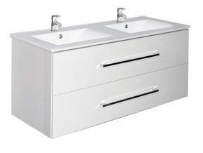 Trento W 120 bílá - koupelnová skříňka s umyvadlem