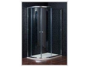 Čtvrtkruhový sprchový kout MIJAS - 120 x 90 x 185 cm