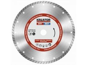 KRT083102 - Diamantový kotouč celoobvodový 230mm PREMIUM TURBO