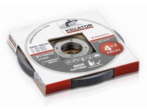 KRT070410 - Řezný kotouč Nerez/Ocel  115 x 1,0mm 4 plus 2 (6ks)