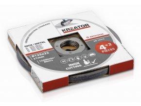 KRT070420 - Řezný kotouč Nerez/Ocel  125 x 1,0mm 4 plus 2 (6ks)