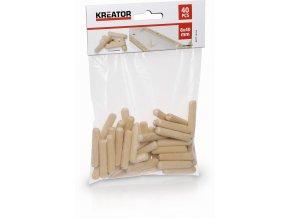 KRT110102 - Truhlářské kolíčky 8 x 40 mm (40 ks)