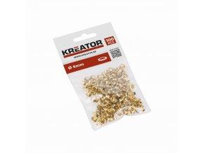 KRT616102 - Kroužky mosaz 4mm 100ks