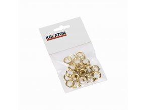 KRT616108 - Kroužky hliník 10mm 25ks