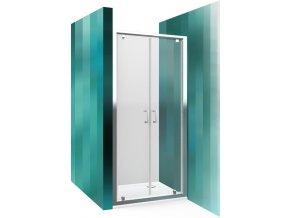 Sprchové dveře dvoukřídlé 80 cm LLDO2