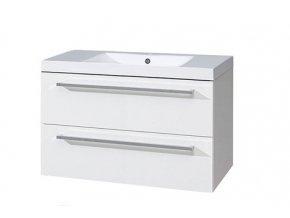 CN662M - Koupelnová skříňka s dvojumyvadlem z litého mramoru, 100cm