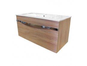 Diana 100-2 koupelnová skříňka závěsná se 2 zásuvkami a keramickým umyvadlem | czkoupelna.cz