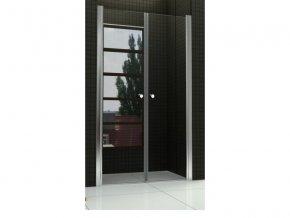 Sprchové dveře do niky WEST 80 dvoukřídlé 80 - 81 cm čiré sklo s úpravou proti vodnímu kameni