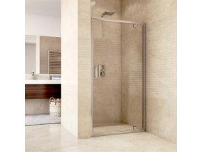 Sprchový dveře pivotové, Mistica Exclusive, 80 cm, chrom. profily, sklo Čiré (CK80913H)