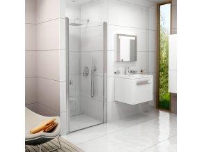 Sprchové dveře jednodílné CSD1 - 80, 775 - 805 mm - barva bílá, sklo transparent.