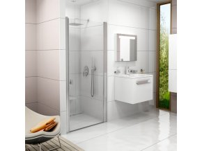 Sprchové dveře Chrome CSD1 CSD1-90 satin+Transparent