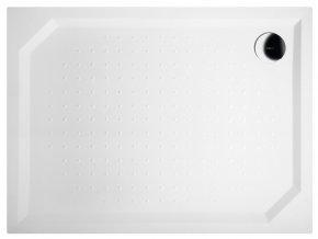 SARA sprchová vanička z litého mramoru, obdélník 100x80x4cm