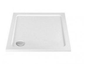 Sanovo Atlanta 80x80 - čtvercový sprchový kout s vaničkou z litého mramoru