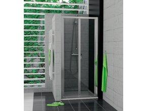 SanSwiss - Zalamovací dveře 80 cm, alu chrom/sklo-czkoupelna
