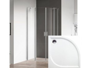 ROSS - Čtvrtkruhový sprchový kout Luxus 90x90 cm | czkoupelna.cz