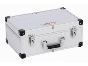 KRT640280S - Hliníkový kufr na 80CD stříbrný  560x265x173 mm