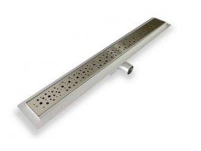 Celonerezový nerezový sprchový žlab DROPS 90 cm | czkoupelna