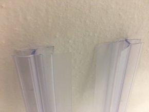 Stírací lišta silikonová spodní, na sprchové dveře - sada 2 ks | czkoupelna