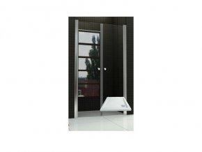 Sprchové dveře do niky WEST 90 dvoukřídlé 86 - 91 cm s vaničkou | czkoupelna