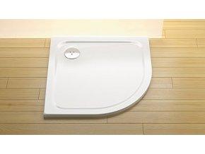 STONE 9090R - S sprchová vanička čtvrtkruhová odpad střed