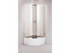 Sprchový kout TOLEDO PLUS - 188 cm včetně akrylátové vaničky, 90 cm × 90 cm, Univerzální, Hliník chrom, grepové bezpečnostní sklo - 6 mm | czkoupelna