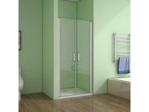 ROSS LINEA dvoukřídlé dveře 136 - 140 CM čiré sklo s povrchovou pro snadnější údržbu | czkoupelna