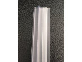 Stírací lišta silikonová spodní 100cm, na sprchové dveře 4mm - sada 2 ks | czkoupelna