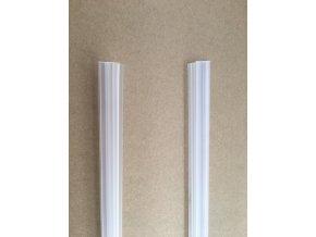 Stírací lišta silikonová spodní 100cm, na sprchové dveře 5 mm - sada 2 ks | czkoupelna