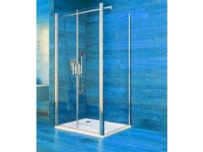 CK86513K Sprchový kout, Lima, čtverec, 80 cm, chrom ALU, sklo Čiré, dveře lítací