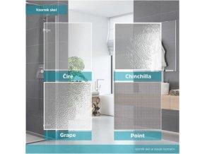 CK86533K Sprchový kout, Lima, čtverec, 100 cm, chrom ALU, sklo Čiré, dveře lítací