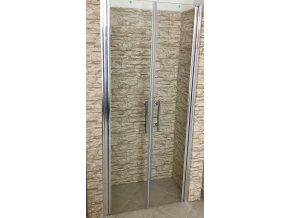 ROSS LINEA NEW dvoukřídlé sprchové dveře 136 -140 CM