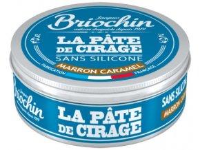 BRIOCHIN Pasta na obuv - karamelově hnědá, 100ml | briochincz