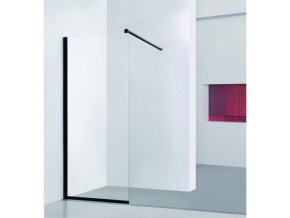 Walk-in sprchový kout LAGOS BLACK - 100 x 195 (v) cm, Hliník - černá barva