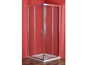 SMARAGD 90 x 80 cm clear NEW sprchový set s vaničkou STONE (PAN01175)