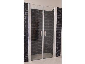 TOP  90 - sprchové dvoukřídlé dveře 87,5-92,5 cm, sklo 8mm czkoupelna.cz