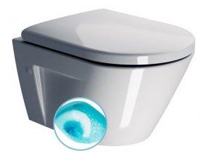 NORM WC závěsné, splachování SWIRLFLUSH, 50x36 cm, ExtraGlaze