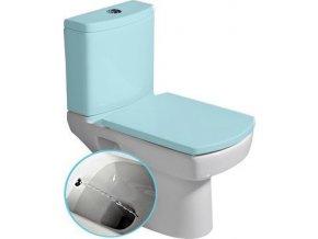 BASIC wc mísa kombi s integrovaným bidetem, spodní/zadní odpad, 35x61cm
