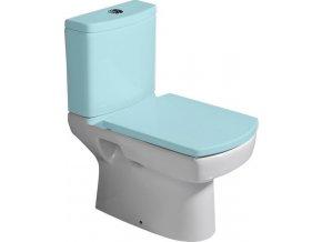 BASIC WC mísa kombi, spodní/zadní odpad, 35x61cm