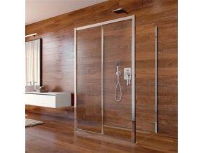 Sprchový kout, Lima, obdélník, 80x120x80x190 cm, chrom ALU, sklo Čiré CK85523K | czkoupelna.cz
