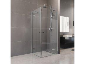 Nova sprchový kout čtvercový 80x80x200 cm, čiré sklo 6 mm | czkoupelna.cz